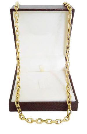 bef3b9d04d4 Corrente Cordão Cadeado 16 Gramas 5mm 65cm Ouro 18k 750 - 65 CM - Ouro  Amarelo - Perucci joias