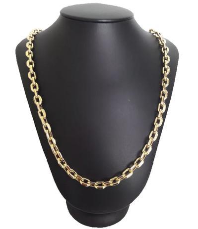 08390abad7f Corrente Cordão Cadeado 24 Gramas 6mm 70cm Ouro 18k 750 - 70 CM - Ouro  Amarelo - Perucci joias
