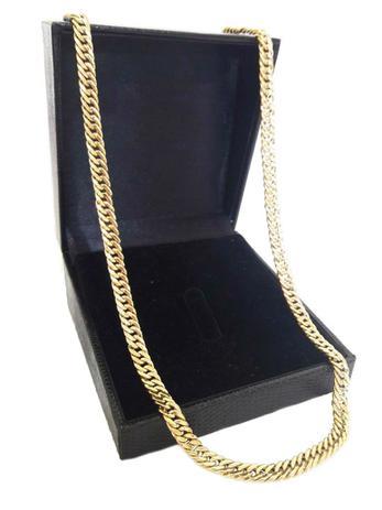 2d754240af1 Corrente Cordão Elos Duplos 25 Gramas 6mm 70cm Ouro 18k 750 - 70 CM - Ouro  Amarelo - Perucci joias