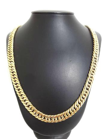0e1cd0e4a31 Corrente Cordão Elos Duplos 55 Gramas 10mm 70cm Ouro 18k 750 - 70 CM - Ouro  Amarelo - Perucci joias