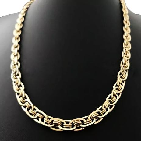 6799e727b2f Corrente Cordão Imperador 35 Gramas 7mm 70cm Ouro 18k 750 - Perucci joias
