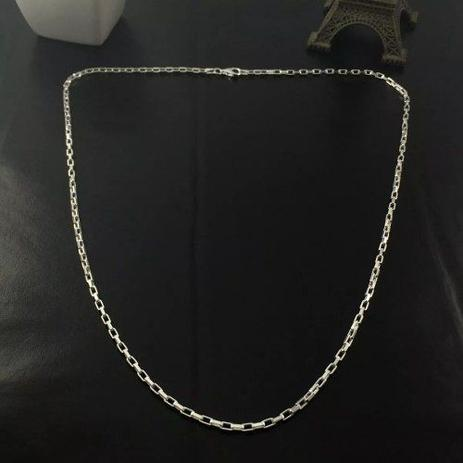 9c16c9b46cc Corrente Cordão Masculina Prata Maciça 925 1 Metro Cartier - Total pratas
