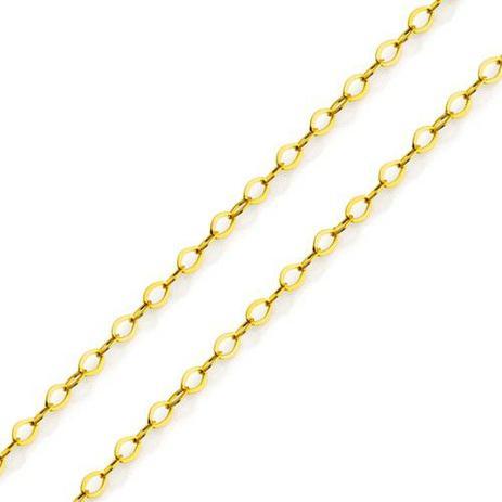3b140e6fb7190 Corrente de Ouro 18K Americana 1,0mm com 40cm co02132 - Joiasgold