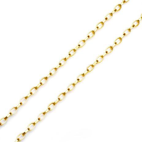 d6a4991f744 Corrente de Ouro 18k Cartier Oval 60cm co01841 - Joiasgold - Joia e ...