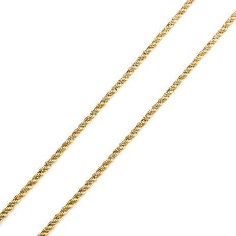 Corrente de Ouro 18k Cordão Tricolor 2,6mm com 50cm CO02031 - Joiasgold ceba9c5821