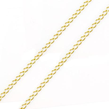 Corrente de Ouro 18k Groumet Losango 2,1mm com 45cm CO01599 - Joiasgold 8b1ea77912
