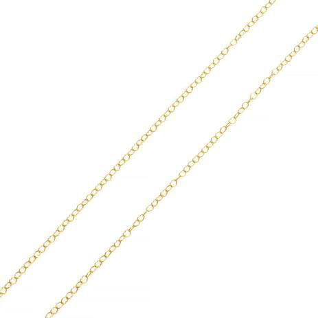 16b8fa0ea50f4 Corrente de Ouro 18k Malha Corações com 40cm co02468 - Joiasgold ...