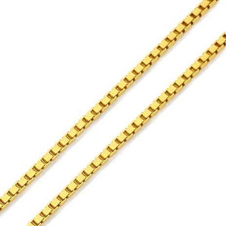 Corrente de Ouro 18k Veneziana de 0,5mm com 50cm co01327 - Joiasgold ... 3eed460611