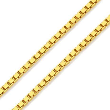 Corrente de Ouro 18k Veneziana de 1,0mm com 45cm co02101 - Joiasgold ... 34075f509e