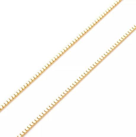 Corrente de Ouro 18k Veneziana Milano de 1,5mm e 40cm co02442 - Joiasgold 6f62915e54