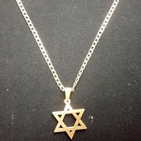 f65692686d14 Corrente Dourada Banhada a Ouro 18k com Pingente Estrela de Davi - Oficina  dos relógios