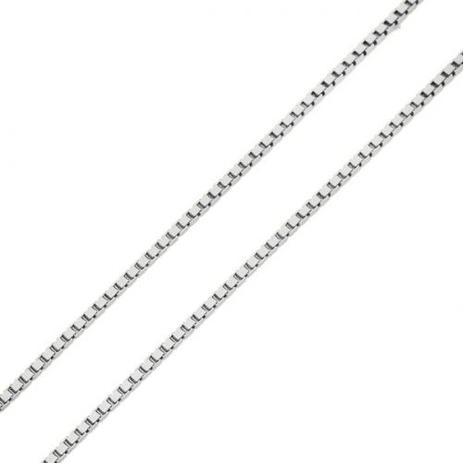202ef7752cfab Corrente em Ouro Branco 18k Veneziana de 0,8mm com 50cm co02711 - Joiasgold