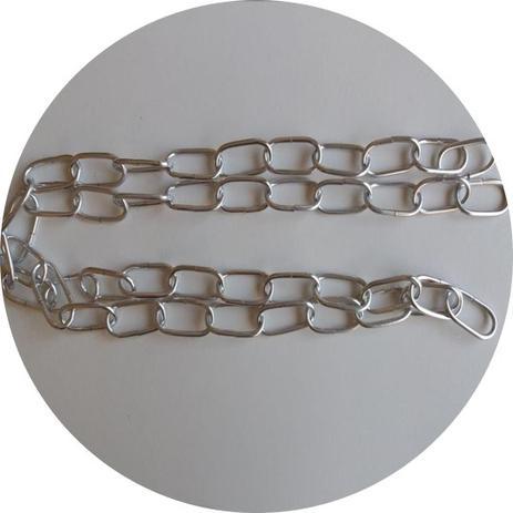 Imagem de Corrente para lustre em alumínio cromado prateado