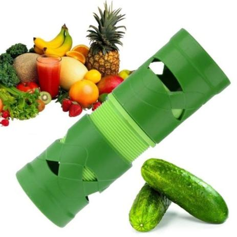 Imagem de Cortador Fatiador De Legues e Verduras Em Espiral  VERDE
