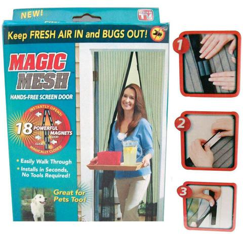 Imagem de Cortina Antimosquitos Mosquiteiro Tela Protetora Para Insetos