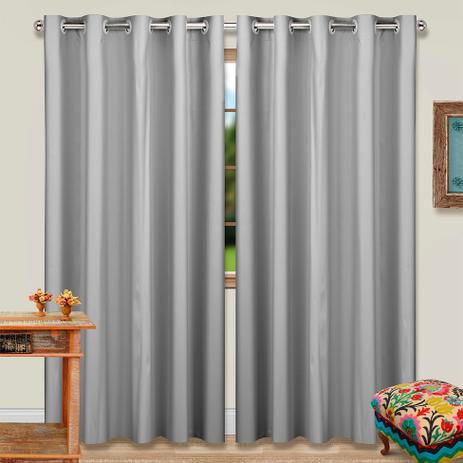 Cortina Blackout Duo Colors Ilhós 180x280cm Cinza   Marka