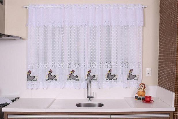 Imagem de Cortina De Renda Para Janela de Cozinha 2,10 x 1,50 - Premium