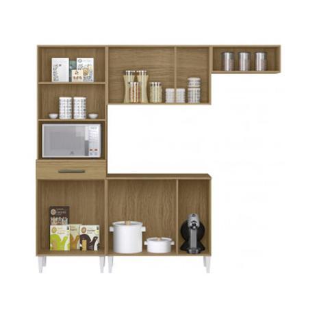 Imagem de Cozinha Compacta 10 Portas 1 Gaveta Aramóveis Com Balcão