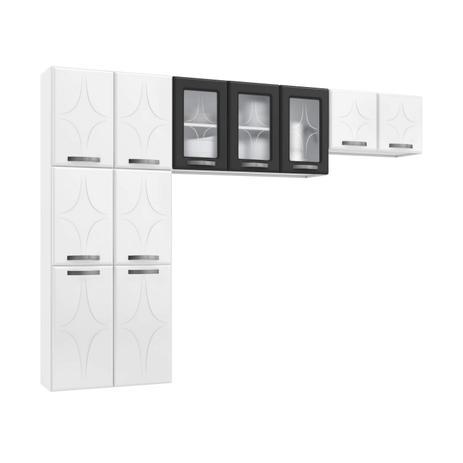 Imagem de Cozinha Compacta 3 Peças sem Balcão Rubi Telasul Branco/Preto