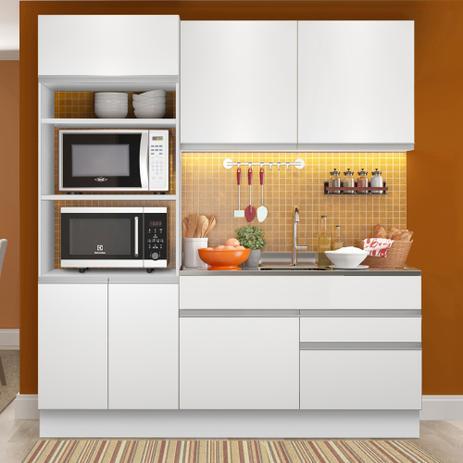 Imagem de Cozinha Compacta 6 Portas Glamy Lívia Branco - Madesa