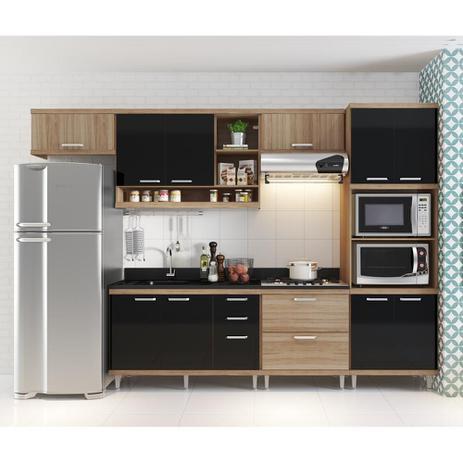 Cozinha compacta a reos arm rio para forno micro ondas e balc es para pia cooktop argila - Microondas de encastrar ...