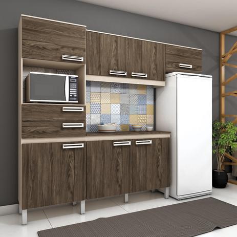 Cozinha Compacta B107 Crememoka Hennbriz Cozinhas Compactas