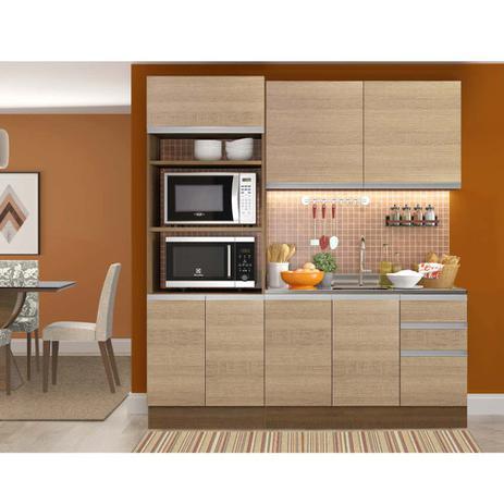Imagem de Cozinha Compacta com Balcão para Pia Glamy Ellen - Saara/Rustic