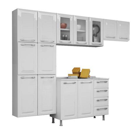 Imagem de Cozinha Compacta Itatiaia Criativa 4 Peças Com Balcão Branco Neve
