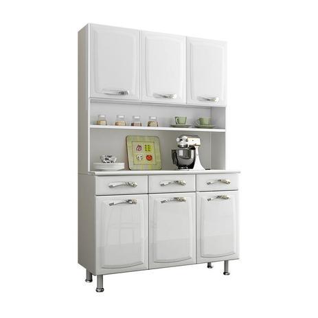 Imagem de Cozinha Compacta Itatiaia I3-120 Premium 6 Portas Aço Branca