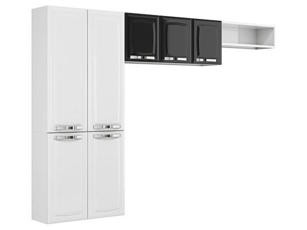 Imagem de Cozinha Compacta Itatiaia Rose - 7 Portas Aço - Branco/Preto