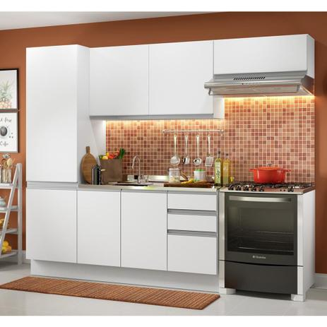 Imagem de Cozinha Compacta Madesa 100% MDF Acordes Glamy Com Armário e Balcão