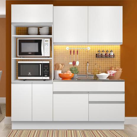Imagem de Cozinha Compacta Madesa Glamy Lívia 6 Portas 2 Gavetas (Sem Tampo e Pia)