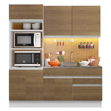 Imagem de Cozinha Compacta Madesa Glamy Lívia 6 Portas 2 Gavetas