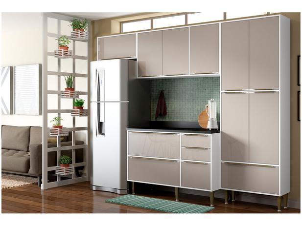 Imagem de Cozinha Compacta Multimóveis Paris com Balcão