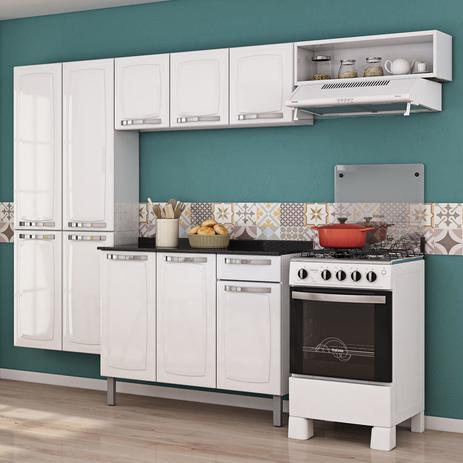 Imagem de Cozinha Completa com Balcão Rose Itatiaia Branco Neve