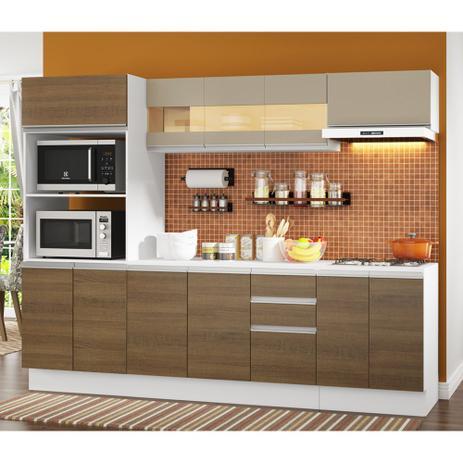 Imagem de Cozinha Completa Compacta Madesa Smart Modulada Com Balcão e Tampo 100 MDF