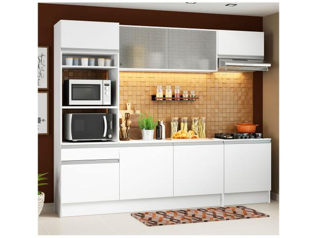 1dbca087288de4 Cozinha Completa Madesa Ametista G20088 com Balcão - Nicho para Forno ou  Micro-ondas 8 portas 1 Gaveta