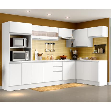 Imagem de Cozinha Completa Madesa Smart com Balcão - Nicho para Forno 17 Portas 2 Gavetas MDF