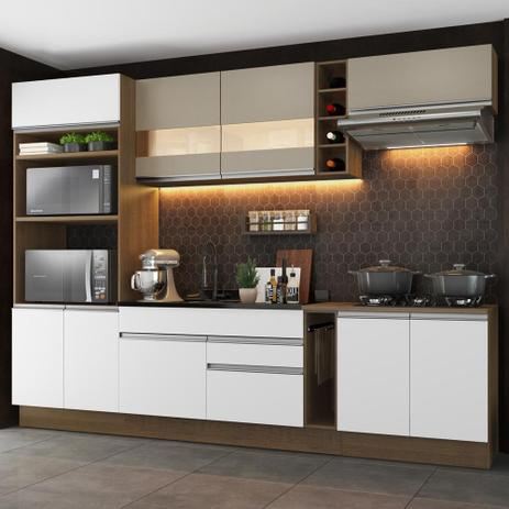Imagem de Cozinha Completa Madesa Vicenza com Armário e Balcão (Sem Tampo e Pia)