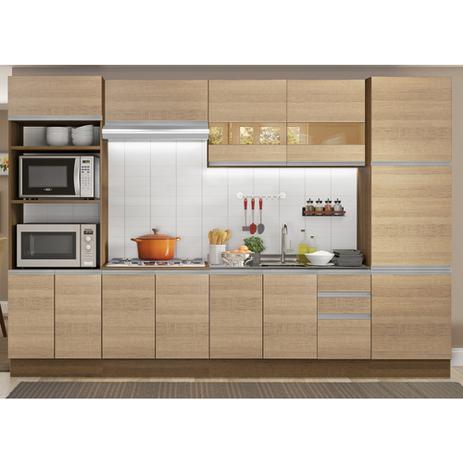 Imagem de Cozinha Completa Planejada Madesa Glamy Roma 3 Gavetas 13 Portas