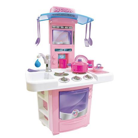 Imagem de Cozinha de Brinquedo Sai Agua Big Star Menina + Panelas
