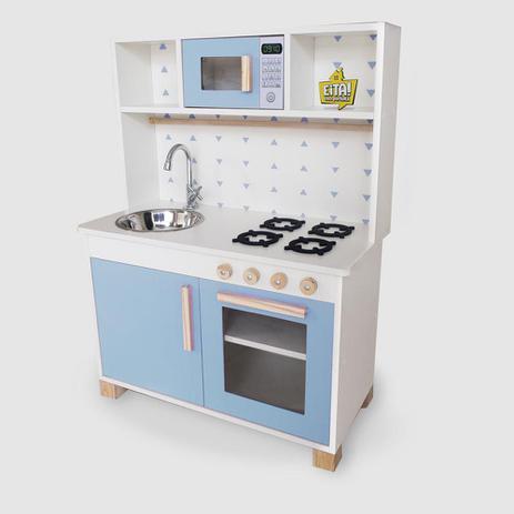 Imagem de Cozinha Infantil Completa Mdf Azul