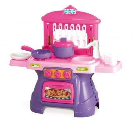 Imagem de Cozinha Infantil Mini Chef Rosa Com Água - Calesita