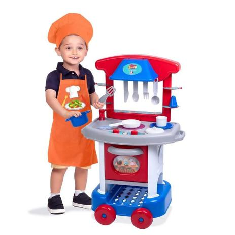 Imagem de Cozinha Infantil Play Time Menino com Acessórios Cotiplás 2421