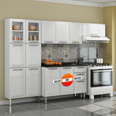 6d0075eb17 Cozinha Itatiaia Tarsila Compacta 3 Pecas 2 Vidros Branco Paneleiro 80 cm