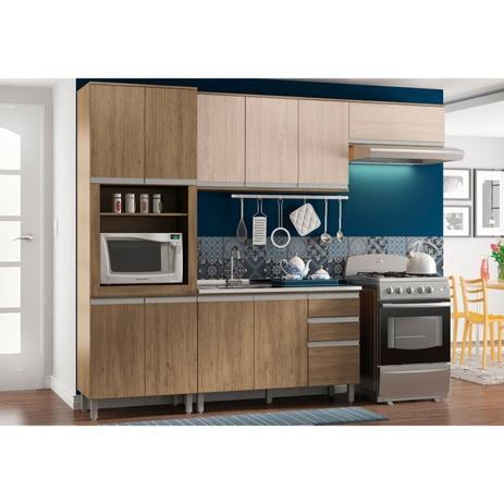 Cozinha Modulada 4 Peças Cp04 Integra Rústicocreme Henn