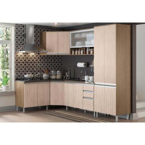 Cozinha Modulada 8 Peças Cp03 Integra Rústicocreme Henn