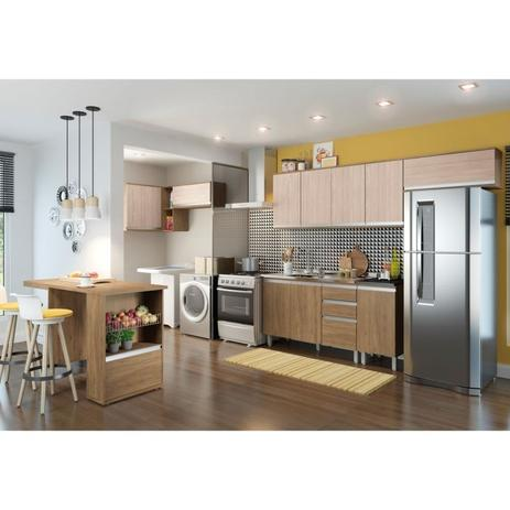 Cozinha Modulada 9 Peças Cp01 Integra Rústicocreme Henn