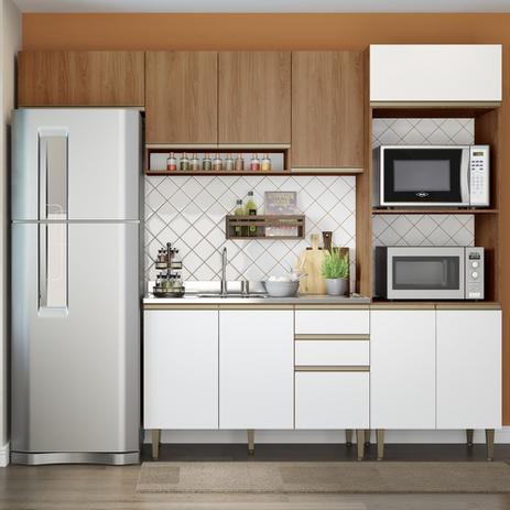 Imagem de Cozinha Modulada Completa 4pc 2,60m 9002 Cook BE Mobiliário