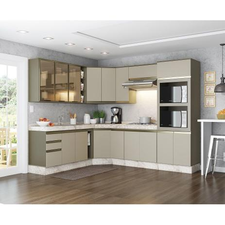Imagem de Cozinha Modulada Connect 17 Portas 02 Gavetas Henn - Duna/Cristal
